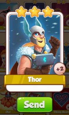 Thor Card - Vikings Set - from Coin Master Cards - Tassie Books Electronic Cards, Coin Master Hack, Card Games, Game Cards, Online Games, Thor, Spinning, Vikings, Coins