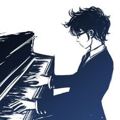 Did we all just forget that John can play the piano?<<< I should know whenever I practice my piano I feel like John Anime Piano, Anime Music, Anime Manga, Anime Guys, Anime Art, Vocaloid, Character Inspiration, Character Design, Story Inspiration