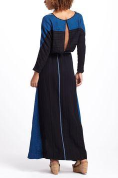 Metallic Tea Maxi Dress