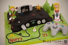 Ocarina of Time, Legend of Zelda / Nintendo 64 cake by Black Cherry Cake Company.