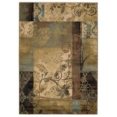 Style Selections�Lingfield 9-ft 10-in x 12-ft 9-in Rectangular Beige Transitional Area Rug