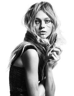 Sasha Pivovarova, photographer Greg Kadel.