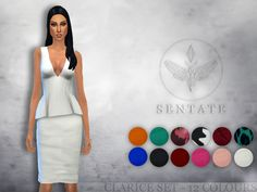 The Sims Resource: Clarice Top & Skirt by Sentate • Sims 4 Downloads