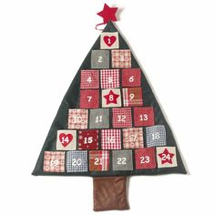 Fabric Christmas Tree Advent Calendar The perfect size to fill with treats on the countdown to Christmas.A perfect traditional decoration to use year after year!