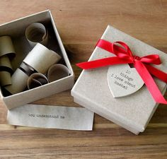 Groom Gift - A box of things I love about him - I really like this idea!