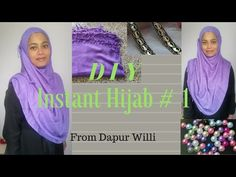 Simple hijab made from pashmina. Music by Bensound Instant Hijab, Simple Hijab, Hijab Style, Diy, Sewing, Youtube, Pattern, Fashion, Moda