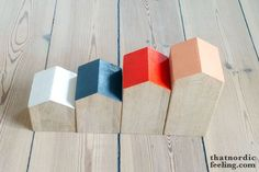 DIY: Little townhouses (painting wood)