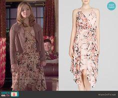 Ali's floral wrap dress on Pretty Little Liars.  Outfit Details: http://wornontv.net/49716/ #PLL