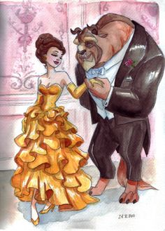 Formal Belle and Beast for @Amber Strickland
