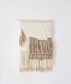 Large woven wall hanging | Woven wall art | Woven tapestry wall hanging | Wall tapestry weaving | Wall weaving | Contemporary weaving