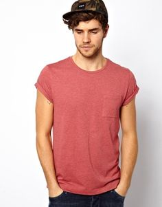 Image 1 of ASOS T-Shirt With Pocket And Roll Sleeve