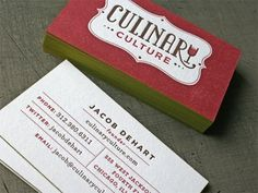Perfect example of using both sides for your business cards.  And love that that full-color!
