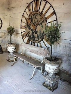 An old, rustic church clock face would look beautiful in a garden seating area. Think about bringing it inside and make a statement in your hall or living room.