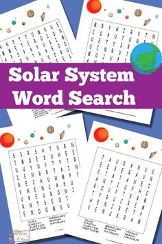 Free Printable Solar System Word Search Puzzles