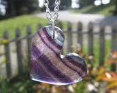 Fluorite Heart Necklace