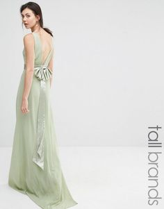Order TFNC Tall Wedding Sateen Bow Back Maxi Dress online today at ASOS for fast delivery, multiple payment options and hassle-free returns (Ts&Cs apply). Get the latest trends with ASOS. Mint Bridesmaid Dresses, Bridesmaids, Wedding Attire, Wedding Dresses, Asos, Tfnc, Maxi Robes, Satin, Models