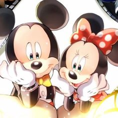 Walt Disney Mickey Mouse and Minnie Mouse