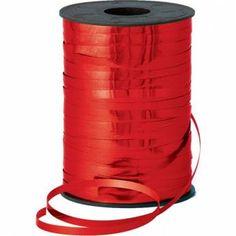 Metallic krullint 250 Meter Kleur Rood