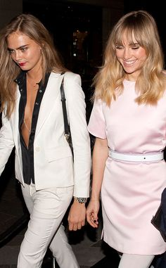 Cara Delevingne and Suki Waterhouse attended Karl Lagerfeld's fragrance launch VIP dinner in London    13/03/2014