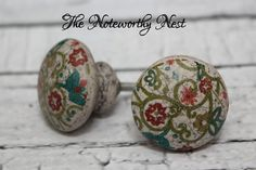 Painted Knobs // Decorative knobs // drawer pulls // dresser knob // cabinet knob // dresser knobs // unique knobs / Stone look knobs / gray on Etsy, 4,64 €