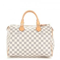 88d060c081bb LOUIS VUITTON Damier Azur Speedy 30 Used Louis Vuitton