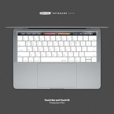 DEVOL KEYBOARD SKIN for MacBook Pro Touch Bar and Touch ID (late 2016) Keyboard skin + Touch Bar and Touch ID Protection Film www.devol.co.kr