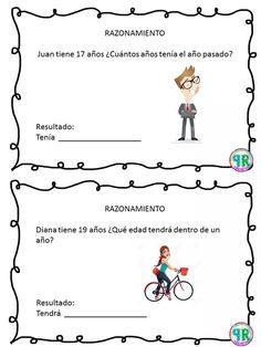 Problemas para I grado | Profe Yano Math 2, Maila, Math Facts, Teaching Spanish, Kindergarten Worksheets, Business For Kids, Fun Projects, Homeschool, Classroom