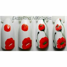 Poppy... Nail Art Design Tutorial
