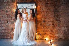 """Фотосессия """"подружки невесты"""" , вечерние и свадебные платья предоставлены студией Alisa Wedding. Съемка проходила в зале """" лофт нижний""""."""
