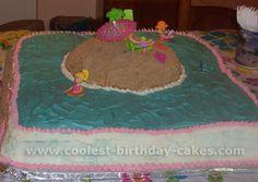 big slab beach party cake.