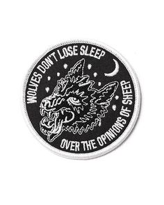 Wolves Don't Lose Sleep Over the Opinion of Sheep Embroidered Patch 2019 – Sommer Garten Hochzeits Kleider