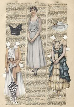 Vintage paper dolls is creative inspiration for us. Get more photo about diy home decor related with by looking at photos gallery at the bottom of this page. We are want to say thanks if you like to share this post to another people via your facebook, pinterest, google plus …