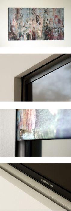 Hidden TV Behind Electric Roller Blind . . . Hidden TV, Hide TV, Hiding TV, Recessed TV, Concealed TV, Hidden Screen, Hide Screen, Hiding Schreen, Concealed Screen, Recessed Screen