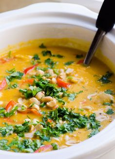 Chicken and Butternut Squash Soup - Creamy meal like soup with peanuts ...