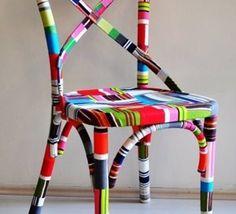 vielles chaises relookées
