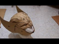 #54: Wolverine Cowl DIY Part 1 - Cardboard (template available) | How To | Dali DIY - YouTube
