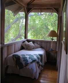 sleeping porch-I used to sleep on a screened pourch just like this!
