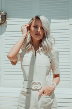 Why Self-Belief is Essential for Success – Inthefrow Guys I got the playsuit! The Gucci playsuit of dreams with it's statement belt, structured collar and safari-esque styling – heaven! Winter Outfits, Casual Outfits, Fashion Outfits, Dressed To The Nines, Fashion Fabric, Playsuit, Love Fashion, Dress Up, Style Inspiration