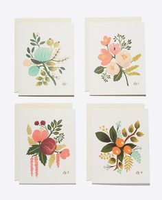 Reconnect with an old friend with this gorgeous Rifle Paper Co. Botanical Card Set sold at Ann Taylor. #anntaylor #riflepaperco #cards #greetingcards