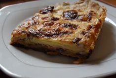 ΜΑΓΕΙΡΙΚΗ ΚΑΙ ΣΥΝΤΑΓΕΣ: Μελιτζάνες -μπέικον -γκούντα στον φούρνο - άλλο πράγμα γεύση !!! Greek Cooking, Starters, Lasagna, French Toast, Recipies, Food And Drink, Cooking Recipes, Tasty, Vegetables