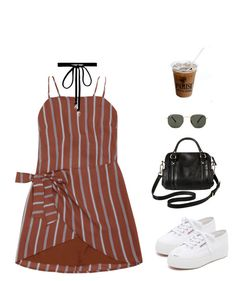 """""""Untitled #1043"""" by greciapaola ❤ liked on Polyvore featuring Superga, Joomi Lim, Ray-Ban and Merona"""