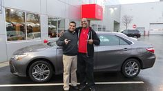 "Congrats to John! Thank you for coming to purchase your New 2015 Toyota Camry SE at Ardmore Toyota. And thank you for the awesome Video Testimonial you did! We hope you enjoy great times in your #Camry. Thank you from Q, Peter and everyone at Ardmore Toyota!"" #ThatNewCarSmell #Smile #OneBoldChoice"