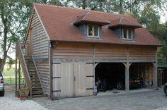 Outbuildings - Border Oak - oak framed houses, oak framed garages and structures. Oak Framed Buildings, Timber Buildings, Small Buildings, Garage Loft, Garage House Plans, Carport Garage, Carport Designs, Garage Design, House Design