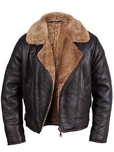 Men's Aviator Ginger Brown Real Shearling Sheepskin Leather Bomber Flying Jacket Price: Sale: You Save: Mens Fleece Jacket, Men's Leather Jacket, Leather Jackets, Khaki Jacket, Mens Shearling Jacket, Leather Coats, The Last Summer, Aviator Jackets, Men's Jackets