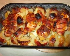 "Csirke ""Pékné"" módra   Varga Gábor (ApróSéf) receptje - Cookpad receptek Cauliflower, Macaroni And Cheese, French Toast, Pizza, Bacon, Chicken, Meat, Vegetables, Breakfast"