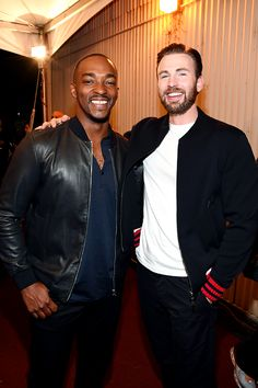 yes. Captain America is almost here! Chris Evans and Anthony Mackie