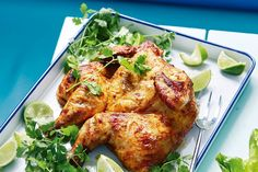 Ras el hanout yoghurt and lime grilled chicken