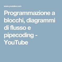 Programmazione a blocchi, diagrammi di flusso e pipecoding - YouTube
