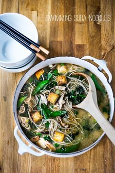 noodle soup with shiitakes greens soba noodle soup with shiitakes snow ...