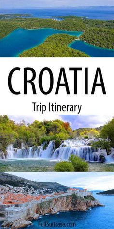 Holiday Destinations: Ultimate Croatia itinerary - perfect mix of the most beautiful towns, picturesque islands, and spectacular nature. See the best of Croatia in 2 weeks. Croatia Itinerary, Croatia Travel Guide, Europe Travel Tips, European Travel, Asia Travel, Travel Destinations, Holiday Destinations, Hawaii Travel, Travel Tips